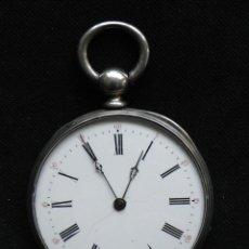 Relojes de bolsillo: ANTIGUO Y PRECIOSO PP. SIGLO XIX EN PLATA RELOJ DE BOLSILLO EN ORDEN DE TRABAJO LE CREUSOT. Lote 69557513
