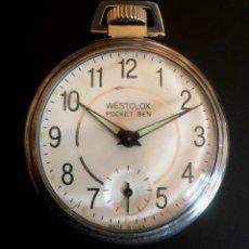Relojes de bolsillo: WESTCLOX POCKET BEN. MADE IN USA FUNCIONANDO.. Lote 70365609