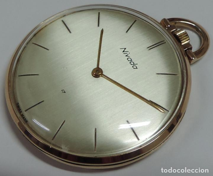NIVADA SUIZO AÑOS 60 MECANICO DE CUERDA MANUAL (Clocks and Watches - Pocket Watches)