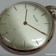 Relojes de bolsillo: NIVADA SUIZO AÑOS 60 MECANICO DE CUERDA MANUAL. Lote 70505441