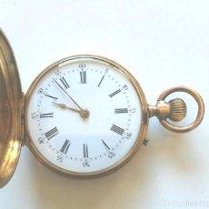 Relojes de bolsillo: GENEVE RELOJ BOLSILLO SEÑORA 3 TAPAS ORO 18 K 10 RUBIS, FUNCIONA, BUEN ESTADO. MED 35 MM SIN CORONA. Lote 70521897