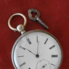 Relojes de bolsillo: ANTIGUO RELOJ DE BOLSILLO MECÁNICO ALEMÁN SUIZO A CUERDA MANUAL CON LLAVE AÑO 1850 NECESITA REVISION. Lote 71210841