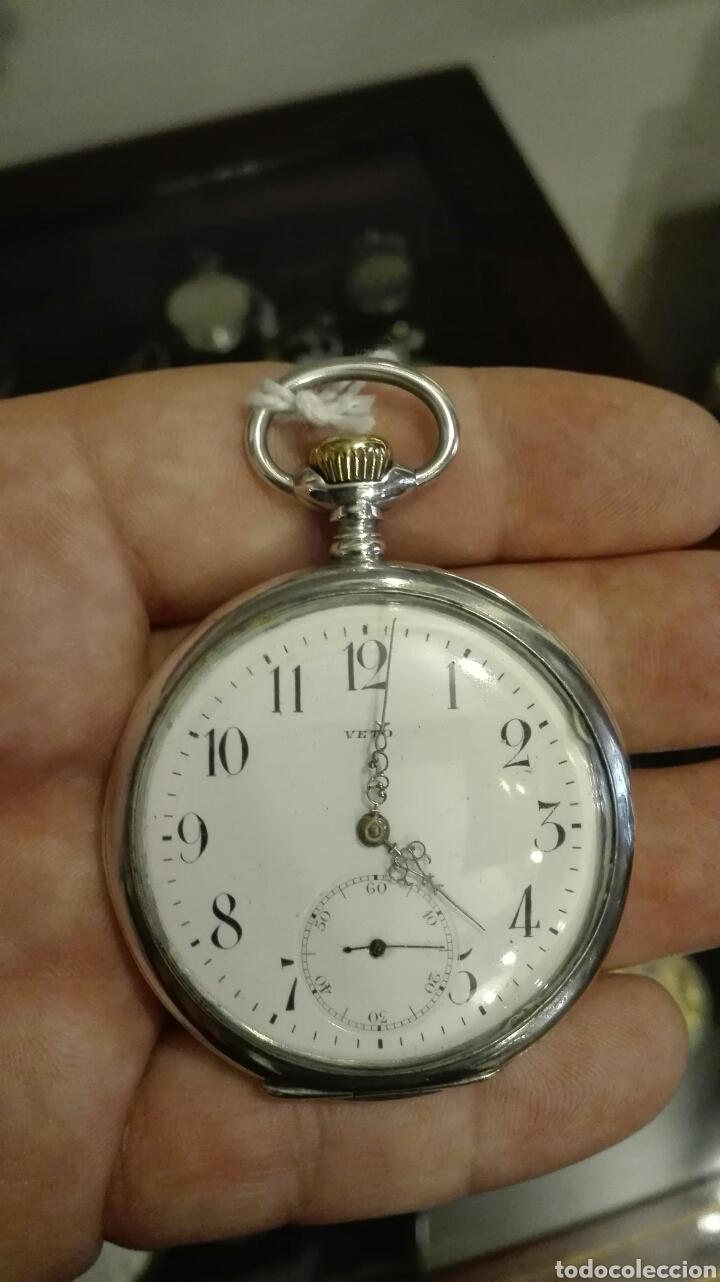 RELOJ DE BOLSILLO VETO - PLATA - (Relojes - Bolsillo Carga Manual)