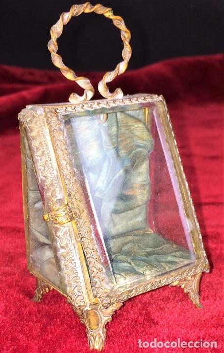 Relojes de bolsillo: URNA EXPOSITORA PARA RELOJ DE BOLSILLO. NAPOLEÓN III. FRANCIA CIRCA 1850 - Foto 2 - 71536823