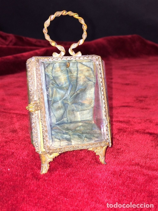 Relojes de bolsillo: URNA EXPOSITORA PARA RELOJ DE BOLSILLO. NAPOLEÓN III. FRANCIA CIRCA 1850 - Foto 3 - 71536823