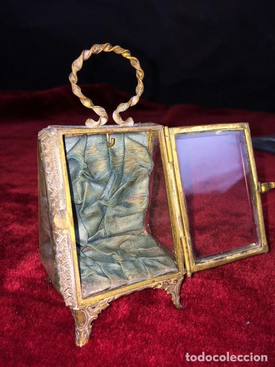 Relojes de bolsillo: URNA EXPOSITORA PARA RELOJ DE BOLSILLO. NAPOLEÓN III. FRANCIA CIRCA 1850 - Foto 8 - 71536823