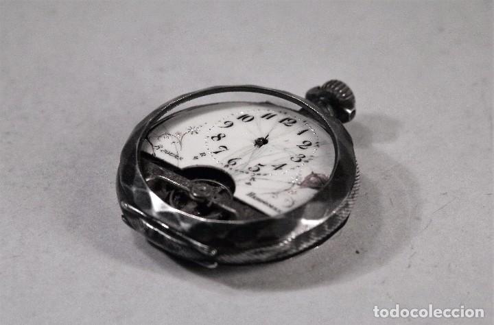 RELOJ BOLSILLO HEBDOMAS 8 JOURS. NO FUNCIONA. PARA REPARAR O PIEZAS. (Relojes - Bolsillo Carga Manual)