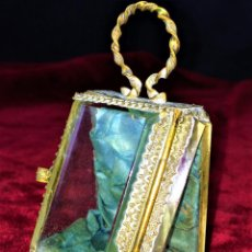 Relojes de bolsillo: URNA EXPOSITORA PARA RELOJ DE BOLSILLO. NAPOLEÓN III. FRANCIA CIRCA 1850. Lote 71536823