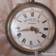 Relojes de bolsillo: GRAN FERROVIARIO RELOJ DE BOLSILLO SUIZO MARCA ROSKOPF - CHEMIN DE FER,DATA DE 1890,FUNCIONANDO. Lote 71820027