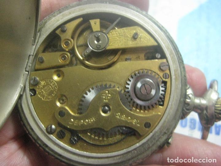 Relojes de bolsillo: TREMENDO RELOJ DE FERROVIARIO W.ROSSKOPF CHEMIN DE FER,TIRADA LIMITADA,Nº403 EXP UNIV PARIS,FUNCIONA - Foto 4 - 71833427