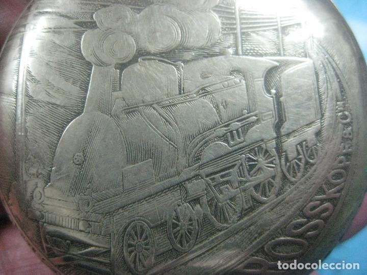 Relojes de bolsillo: TREMENDO RELOJ DE FERROVIARIO W.ROSSKOPF CHEMIN DE FER,TIRADA LIMITADA,Nº403 EXP UNIV PARIS,FUNCIONA - Foto 6 - 71833427