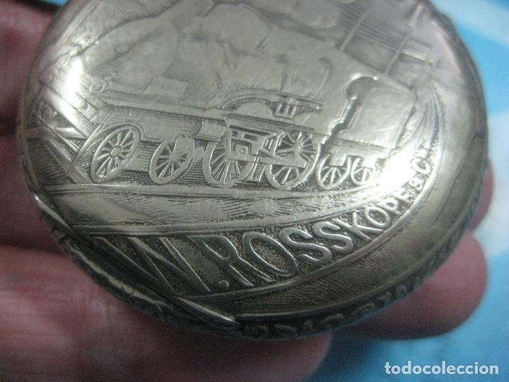 Relojes de bolsillo: TREMENDO RELOJ DE FERROVIARIO W.ROSSKOPF CHEMIN DE FER,TIRADA LIMITADA,Nº403 EXP UNIV PARIS,FUNCIONA - Foto 7 - 71833427