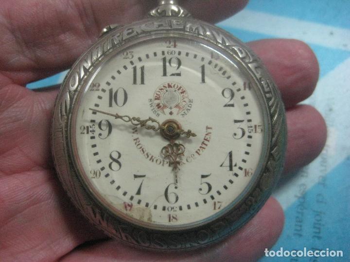 Relojes de bolsillo: TREMENDO RELOJ DE FERROVIARIO W.ROSSKOPF CHEMIN DE FER,TIRADA LIMITADA,Nº403 EXP UNIV PARIS,FUNCIONA - Foto 10 - 71833427