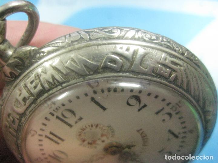 Relojes de bolsillo: TREMENDO RELOJ DE FERROVIARIO W.ROSSKOPF CHEMIN DE FER,TIRADA LIMITADA,Nº403 EXP UNIV PARIS,FUNCIONA - Foto 12 - 71833427