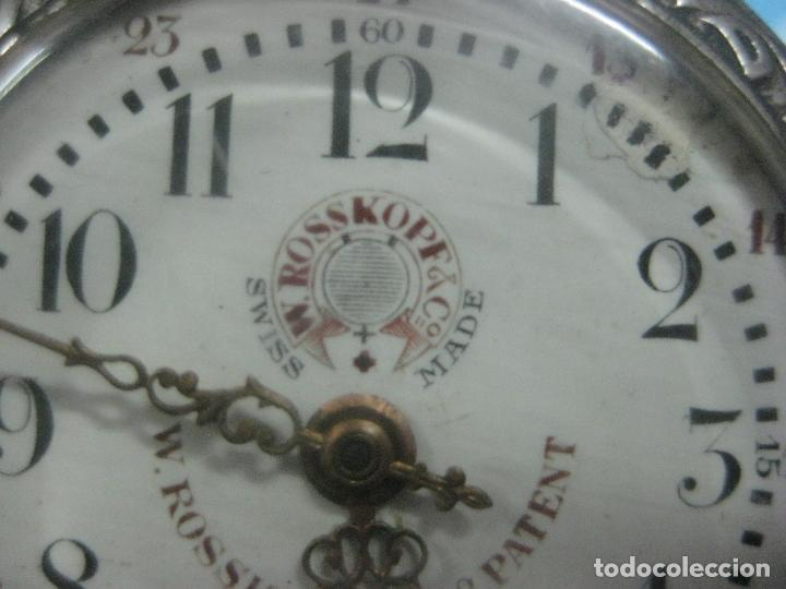Relojes de bolsillo: TREMENDO RELOJ DE FERROVIARIO W.ROSSKOPF CHEMIN DE FER,TIRADA LIMITADA,Nº403 EXP UNIV PARIS,FUNCIONA - Foto 13 - 71833427