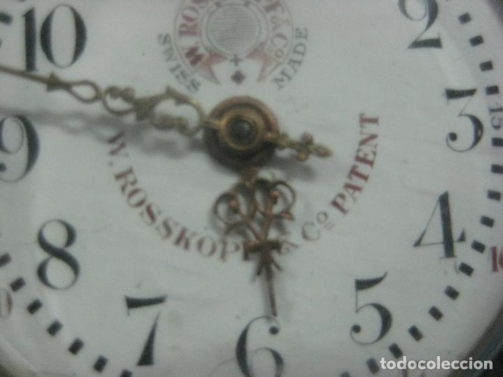 Relojes de bolsillo: TREMENDO RELOJ DE FERROVIARIO W.ROSSKOPF CHEMIN DE FER,TIRADA LIMITADA,Nº403 EXP UNIV PARIS,FUNCIONA - Foto 14 - 71833427