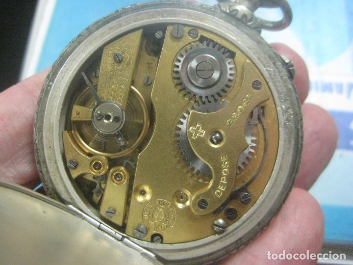 Relojes de bolsillo: TREMENDO RELOJ DE FERROVIARIO W.ROSSKOPF CHEMIN DE FER,TIRADA LIMITADA,Nº403 EXP UNIV PARIS,FUNCIONA - Foto 16 - 71833427