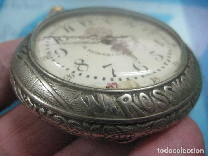 Relojes de bolsillo: TREMENDO RELOJ DE FERROVIARIO W.ROSSKOPF CHEMIN DE FER,TIRADA LIMITADA,Nº403 EXP UNIV PARIS,FUNCIONA - Foto 18 - 71833427