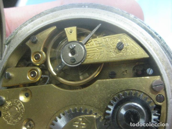 Relojes de bolsillo: TREMENDO RELOJ DE FERROVIARIO W.ROSSKOPF CHEMIN DE FER,TIRADA LIMITADA,Nº403 EXP UNIV PARIS,FUNCIONA - Foto 19 - 71833427