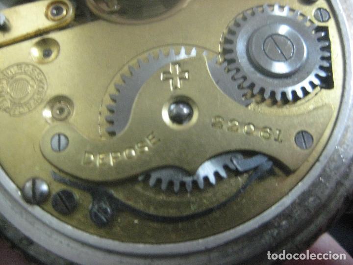Relojes de bolsillo: TREMENDO RELOJ DE FERROVIARIO W.ROSSKOPF CHEMIN DE FER,TIRADA LIMITADA,Nº403 EXP UNIV PARIS,FUNCIONA - Foto 20 - 71833427