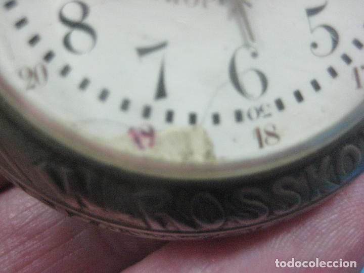 Relojes de bolsillo: TREMENDO RELOJ DE FERROVIARIO W.ROSSKOPF CHEMIN DE FER,TIRADA LIMITADA,Nº403 EXP UNIV PARIS,FUNCIONA - Foto 26 - 71833427
