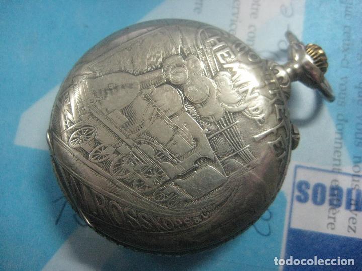 Relojes de bolsillo: TREMENDO RELOJ DE FERROVIARIO W.ROSSKOPF CHEMIN DE FER,TIRADA LIMITADA,Nº403 EXP UNIV PARIS,FUNCIONA - Foto 27 - 71833427