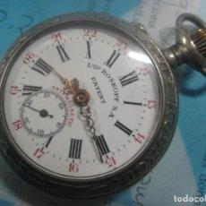 Relojes de bolsillo: TREMENDO RELOJ DE FERROVIARIO LOUIS.ROSKOPF CHEMIN DE FER,TIRADA LIMITADA, Nº14, FUNCIONA, 1906. Lote 71908859