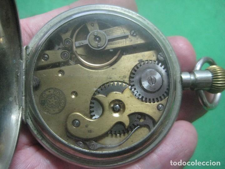 TREMENDO ROSKOPF PATENT DE ESTRELLA DE 5 PUNTAS LOBULADA DE 1895, FUNCIONA, ENORME DE 58 MM (Relojes - Bolsillo Carga Manual)