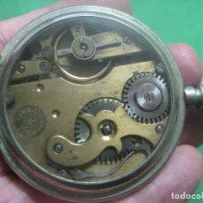 Relojes de bolsillo: TREMENDO ROSKOPF PATENT DE ESTRELLA DE 5 PUNTAS LOBULADA DE 1895, FUNCIONA, ENORME DE 58 MM. Lote 72064451