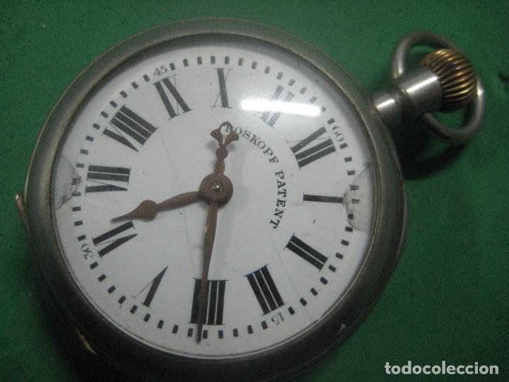 Relojes de bolsillo: TREMENDO ROSKOPF PATENT DE ESTRELLA DE 5 PUNTAS LOBULADA DE 1895, FUNCIONA, ENORME DE 58 MM - Foto 2 - 72064451