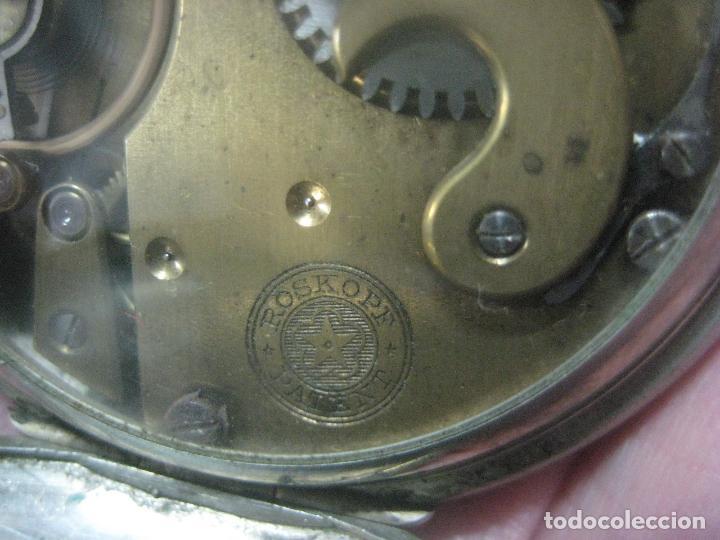 Relojes de bolsillo: TREMENDO ROSKOPF PATENT DE ESTRELLA DE 5 PUNTAS LOBULADA DE 1895, FUNCIONA, ENORME DE 58 MM - Foto 3 - 72064451