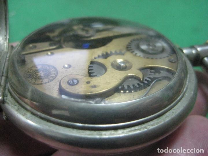Relojes de bolsillo: TREMENDO ROSKOPF PATENT DE ESTRELLA DE 5 PUNTAS LOBULADA DE 1895, FUNCIONA, ENORME DE 58 MM - Foto 4 - 72064451