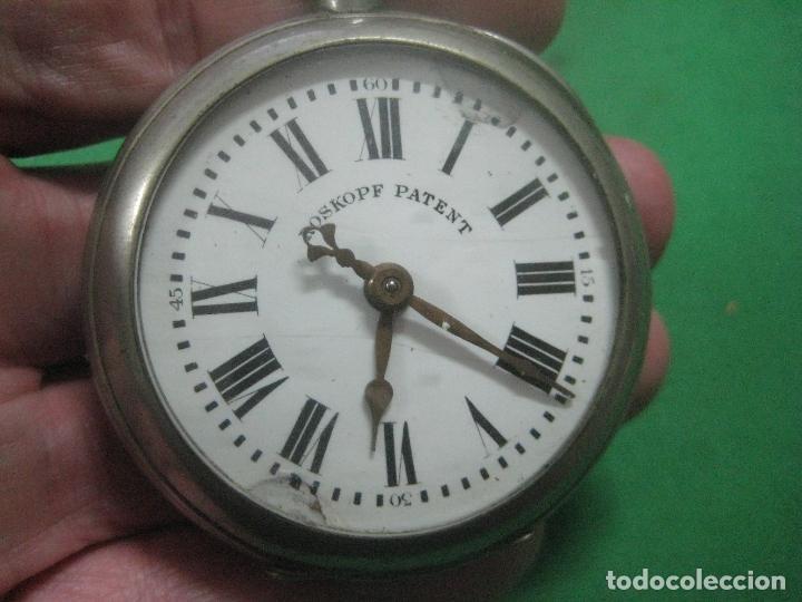 Relojes de bolsillo: TREMENDO ROSKOPF PATENT DE ESTRELLA DE 5 PUNTAS LOBULADA DE 1895, FUNCIONA, ENORME DE 58 MM - Foto 8 - 72064451