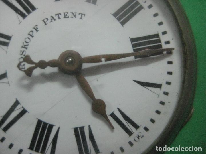 Relojes de bolsillo: TREMENDO ROSKOPF PATENT DE ESTRELLA DE 5 PUNTAS LOBULADA DE 1895, FUNCIONA, ENORME DE 58 MM - Foto 10 - 72064451