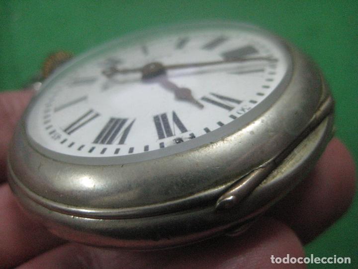 Relojes de bolsillo: TREMENDO ROSKOPF PATENT DE ESTRELLA DE 5 PUNTAS LOBULADA DE 1895, FUNCIONA, ENORME DE 58 MM - Foto 14 - 72064451
