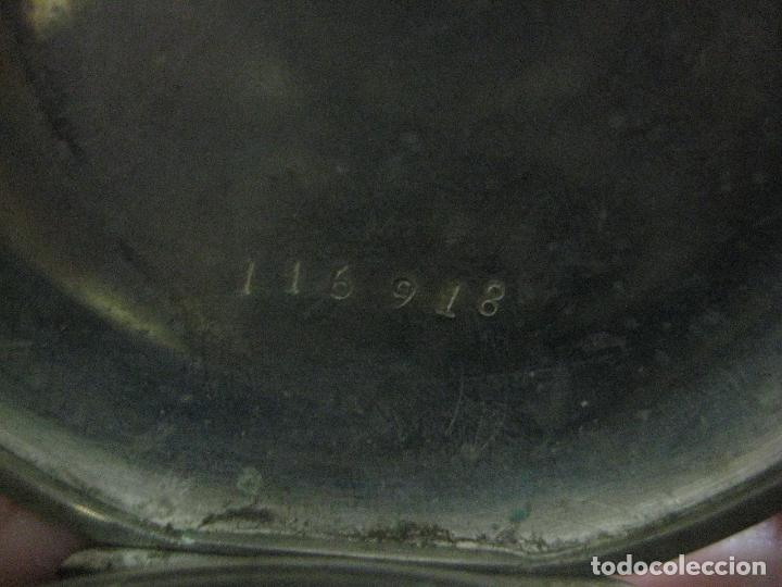 Relojes de bolsillo: TREMENDO ROSKOPF PATENT DE ESTRELLA DE 5 PUNTAS LOBULADA DE 1895, FUNCIONA, ENORME DE 58 MM - Foto 17 - 72064451
