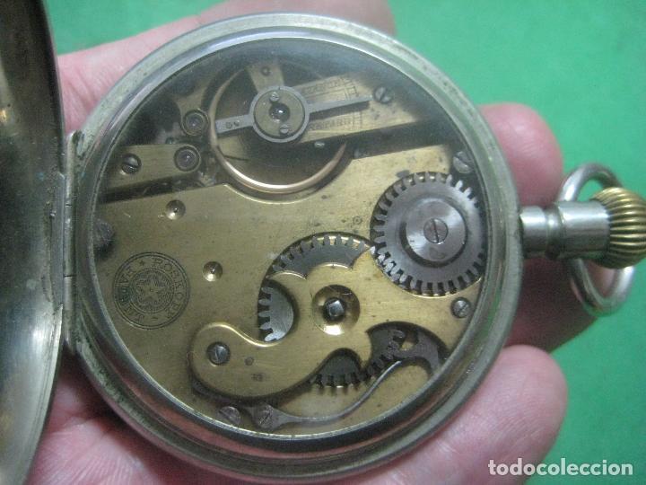 Relojes de bolsillo: TREMENDO ROSKOPF PATENT DE ESTRELLA DE 5 PUNTAS LOBULADA DE 1895, FUNCIONA, ENORME DE 58 MM - Foto 18 - 72064451