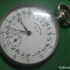 Relojes de bolsillo: UNA MARAVILLA DE RELOJ DE BOLSILLO SUIZO DE ESFERA DE 24 HORAS,FUNCIONANDO,DATA DE 1910. Lote 79032687