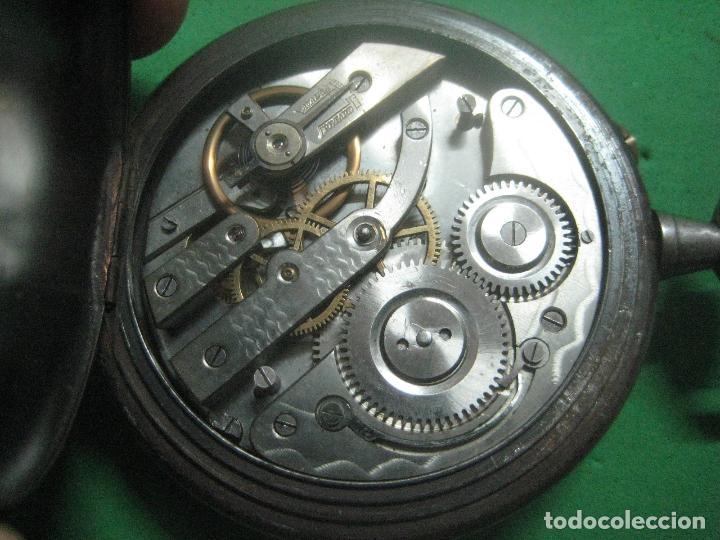 Relojes de bolsillo: TREMENDO FERROVIARIO GOLIATH RELOJ DE BOLSILLO SUIZO, DATA DE 1900, FUNCIONANDO, 66 MM SIN CORONA - Foto 2 - 72252299