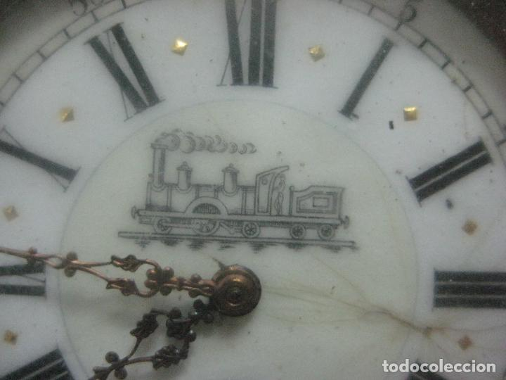 Relojes de bolsillo: TREMENDO FERROVIARIO GOLIATH RELOJ DE BOLSILLO SUIZO, DATA DE 1900, FUNCIONANDO, 66 MM SIN CORONA - Foto 5 - 72252299