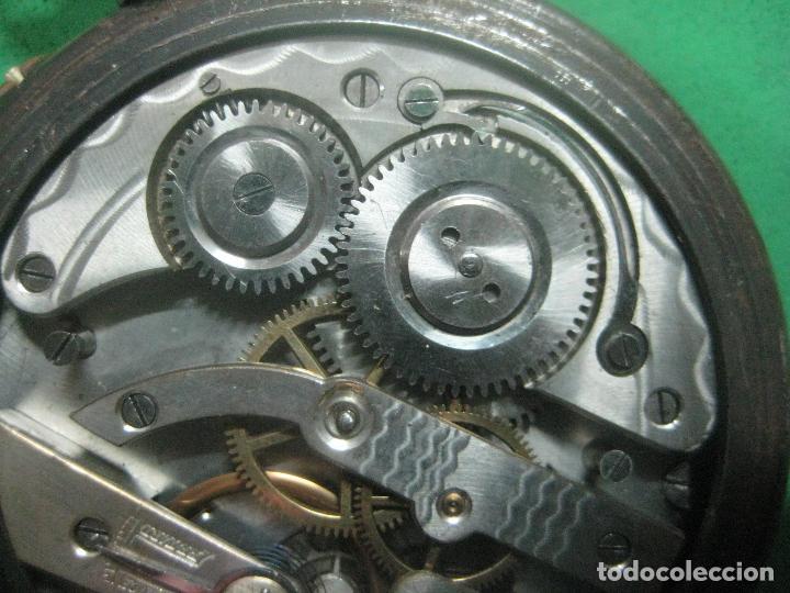 Relojes de bolsillo: TREMENDO FERROVIARIO GOLIATH RELOJ DE BOLSILLO SUIZO, DATA DE 1900, FUNCIONANDO, 66 MM SIN CORONA - Foto 8 - 72252299