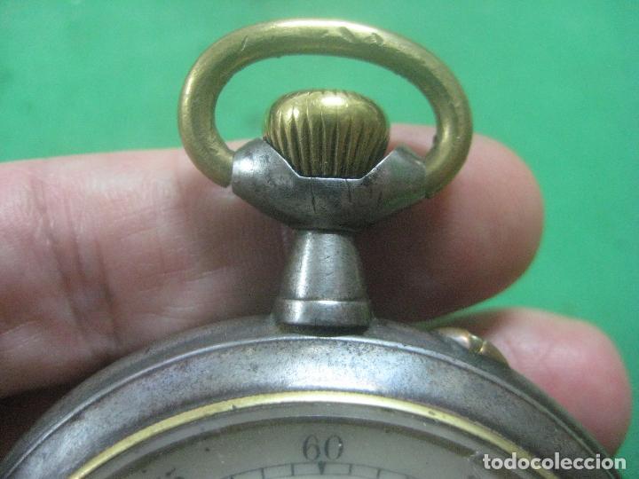 Relojes de bolsillo: TREMENDO FERROVIARIO GOLIATH RELOJ DE BOLSILLO SUIZO, DATA DE 1900, FUNCIONANDO, 66 MM SIN CORONA - Foto 13 - 72252299