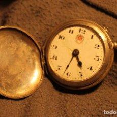 Relojes de bolsillo: RELOJ DE BOLSILLO DE PLATA CON GRABADO, MARCA ROSSKOPF , (FUNCIONANDO PERFECTAMENTE). Lote 72785379