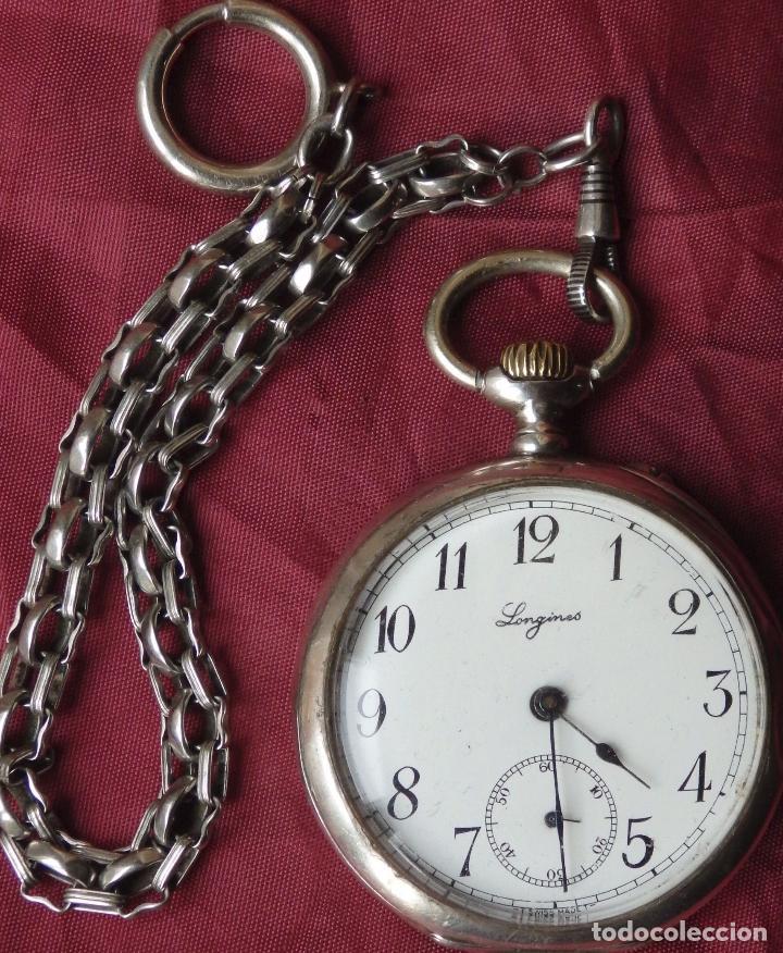 Reloj de bolsillo longines 1920 funcionando c comprar - Reloj de cadena ...
