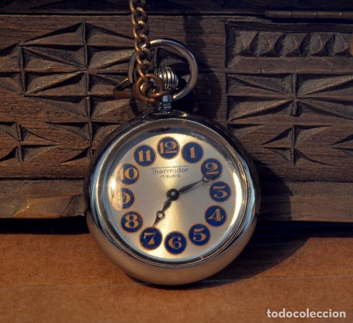 RELOJ DE BOLSILLO THERMIDOR, CUERDA, 17 RUBIS (Relojes - Bolsillo Carga Manual)