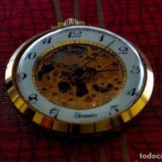 Relojes de bolsillo: RELOJ DE BOLSILLO THERMIDOR , MAQUINARIA VISTA, CUERDA, HOMBRE. Lote 73774419