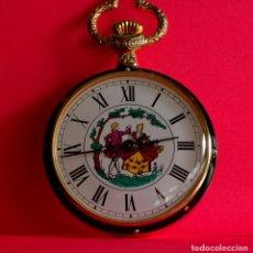 Relojes de bolsillo: RELOJ DE BOLSILLO VINTAGE, SUIZO, CUERDA, CURIOSO, MUY EXCLUSIVO. Lote 74294587