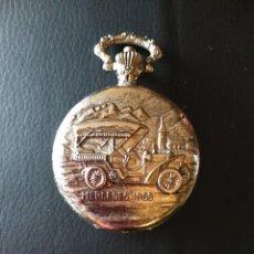 Relojes de bolsillo: BONITO RELOJ DE BOLSILLO CON ANTIGUO COCHE GRABADO EN RELIEVE EN LA TAPA. NO FUNCIONA. Lote 74294727
