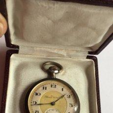 Relojes de bolsillo: RA300 ANTIGUO RELOJ BOLSILLO RECORD WATCH EN PLATA SELLADO Y NUMERADO, ORIGINAL P.P.S.XX. Lote 75056459