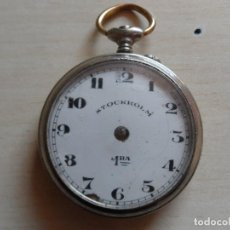 Relojes de bolsillo: RELOJ DE BOLSILLO PRINCIPIOS SIGLO XX PARA PIEZAS - RECAMBIOS RELOJ - STOCKHOLM 1RA. Lote 75301335